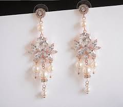 statement wedding earrings art deco bridal chandelier dangle