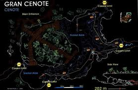 tulum map scuba diving in gran cenote cavern cave riviera tulum playa