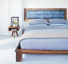 Platform Bed Headboard Modern Platform Bed Bedroom Contemporary With Accent Wall Blue