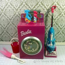 barbie laundry furniture set cleaning lot washing machine vacuum