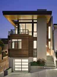 Shotgun House Design White Color Combined With Wooden Wall Exterior Design Ideas With