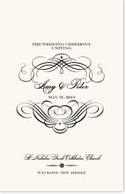 wedding program wording templates for greek and russian orthodox
