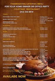 thanksgiving catering menu by kil4 on deviantart