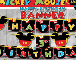 mickey mouse birthday ideas mickey mouse clubhouse birthday banner mickey mouse birthday