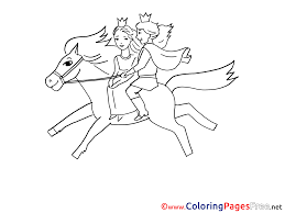 prince riding horse free colouring download