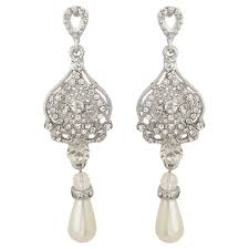 vintage wedding earrings chandeliers pearl drop bridal earrings dangling wedding earrings mock ivory