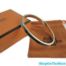 bracelet hermes price images Mens gold plated narrow bracelet black enamel jpg