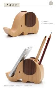 new wood multifunctional cute cartoon elephant pen holder cell