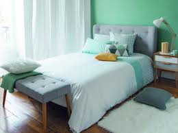 deco chambre verte décoration chambre mur vert exemples d aménagements