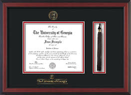 diploma frames with tassel holder uga diploma frame rosewood w gold lip seal tassel black