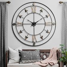 Large Mirrored Wall Clock Clocks Wall Clocks Desk Clock Kirklands