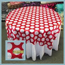 red white polka dot table covers white polka dot charmeuse table overlay