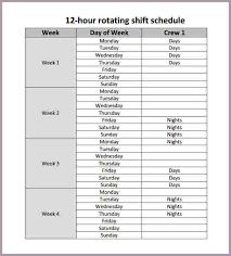 hour schedule template expin memberpro co