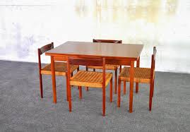 dining room danish modern lacquered teak dining table which