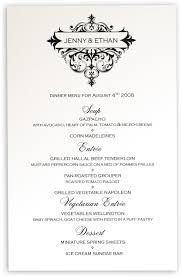 Cocktail Invitation Cards Vintage Wedding Menu Cards Menu Card Custom Design For Wedding