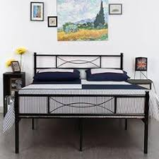 Metal Bed Frame No Boxspring Needed Box For Platform Bed