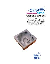 wind river spas odyssey owner s manual