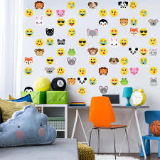 new wall decal designs wall dressed up 30 animal emoji plus 36 emoji fabric wall decals wall dressed up 1