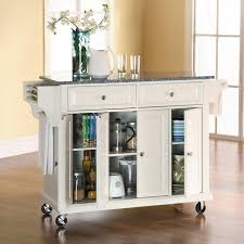 kitchen cart island crosley furniture kf30003ewh solid granite top kitchen cart island