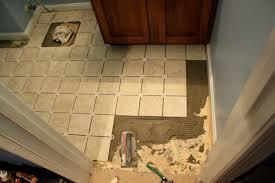 simply diy bathroom floor part before grout