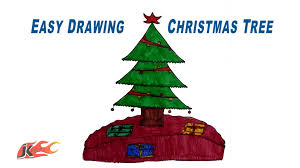 how to draw a christmas tree easy project for kids jk
