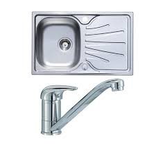Stainless Steel Kitchen Sink  Tap Pack  Bowl Compact Design - Compact kitchen sinks stainless steel