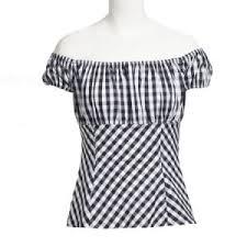 china 2017 latest design women clothes off shoulder black white