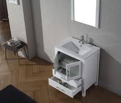 Complete Bathroom Vanity Sets Virtu Usa Dior 28 Single Bathroom Vanity Set In White Bathtubs Plus