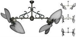 Twin Ceiling Fan by Twin Star Ii Double Ceiling Fan