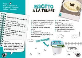 fiche de cuisine risotto à la truffe