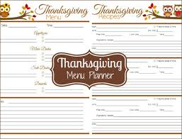 my owl barn printable thanksgiving menu planner