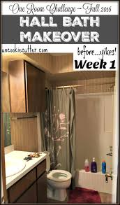 Challenge Fall In Bath Bath Makeover One Room Challenge Week 1 Bath Room And
