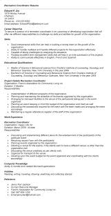 Recreation Coordinator Resume Reentrycorps by Sales Coordinator Resume Sales And Business Development