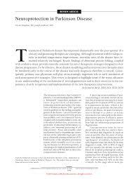 neuroprotection in parkinson disease movement disorders jama