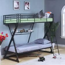 Metal Bunk Bed With Desk Underneath Best 25 Metal Bunk Beds Ideas On Pinterest Double Bunk Beds