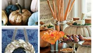 modern and clean thanksgiving decor in maroon and turquoise blue