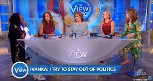 the view ivanka trump tries to