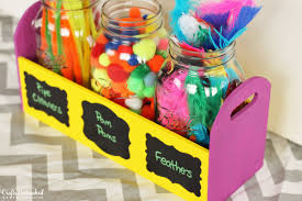 craft caddy tutorial using mason jars for organizing