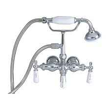 clawfoot tub filler u2013 hand held shower old style spigot u2013 barclay