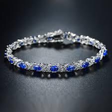 tennis blue bracelet images Buy diamond and blue sapphire tennis bracelet in 18k white gold by jpg