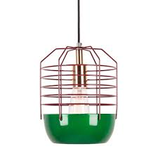gatsby artdeco cage pendant light in green pendant lamps cult uk