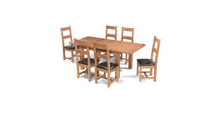 rustic oak dining table rustic oak 132 198 cm extending dining table and 6 chairs