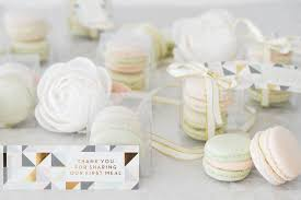 macaron wedding favors favours suzanne esper cakes