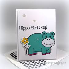 hippo bird day cas e this sketch 221 shannon kay paperie