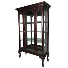 Shoe Cabinet Melbourne Furniture Furniture Chippendale Style Solid Mahogany Wood Single Door Glass