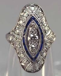 art deco platinum diamond sapphire ring from perfectjewels u2026 flickr