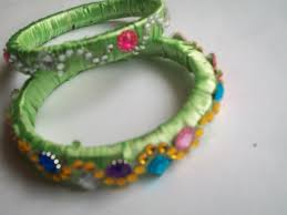 plastic ribbon how to make designer jewellery bangles with plastic ribbon and