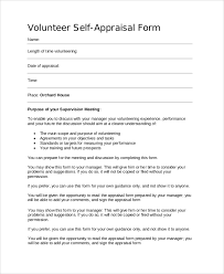 self appraisal example free employee self evaluation template