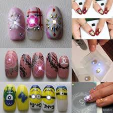 nfc chip nail stickers with led light flash dazln nail art tips