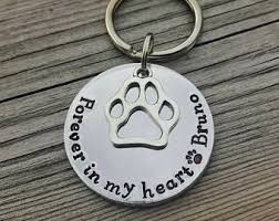 in memory of keychains in memory of dog etsy